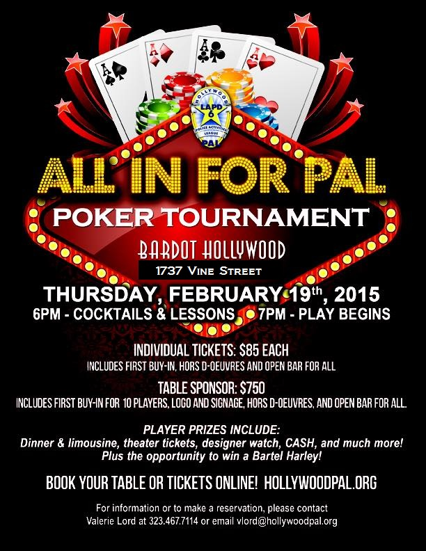 club hollywood casino poker tournament
