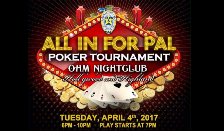 Book Now for the All in for PAL Poker Tournament