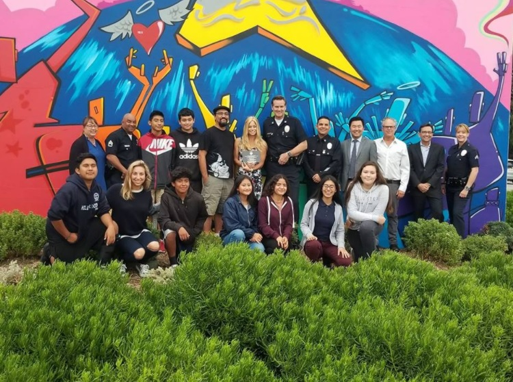 Hollywood PAL Unveils Mural at 6501 Fountain Avenue!