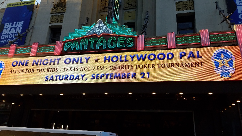 Poker at the Pantages raises over $26,000 for Hollywood PAL Youth Programs!