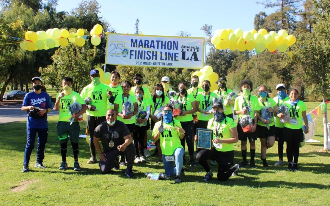 Virtual Marathon Runners Cross the Finish Line